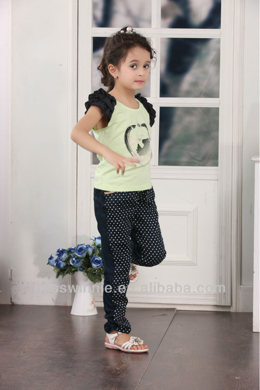 China supplier wholesale fashion short sleeve cotton child clothing sets