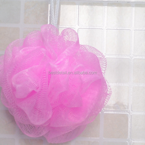 Skin Care 30g Pink Cheap Small Body Scrubber Ball Exfoliating Shower Loofah Mesh Pouf Bath Sponges