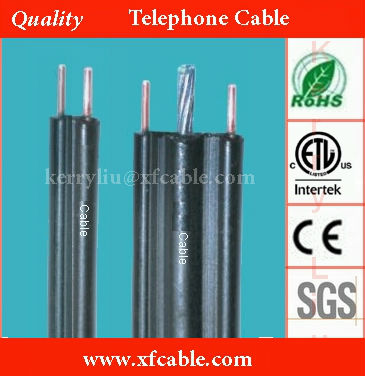 outdoor aerial drop wire telephone cable