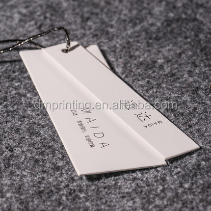 Custom Recycled High-end Garment Clothing Hang Tags Label With String