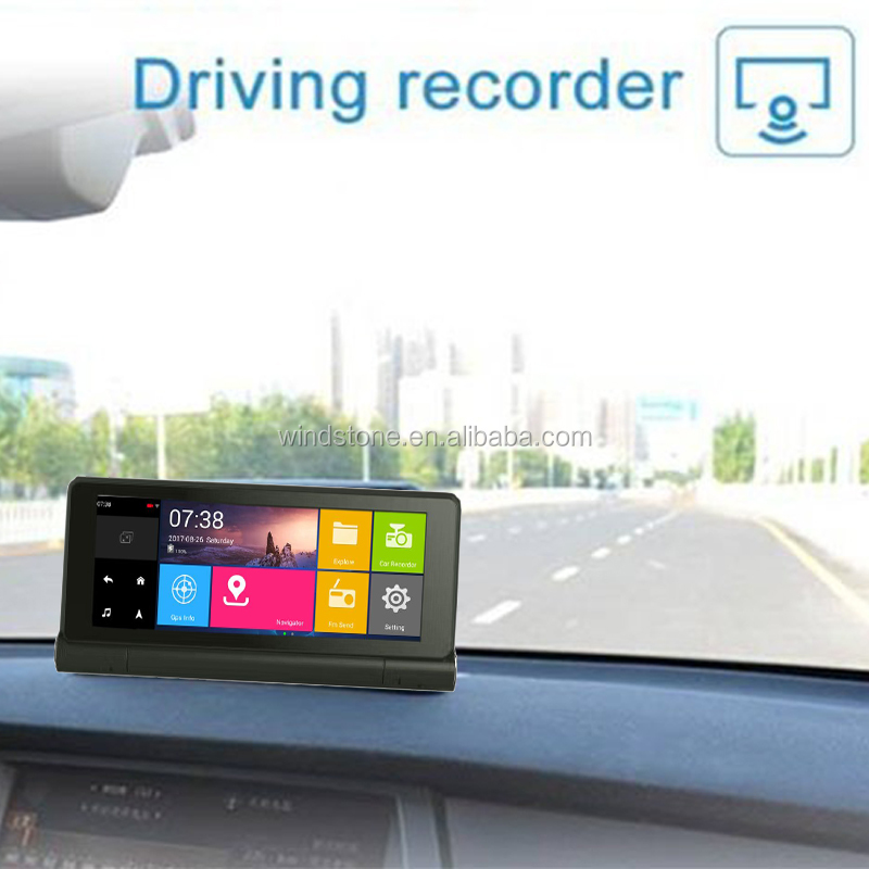 Bluetooth Handsfree FM AV in Car GPS Navigation 7 inch DVR Camera
