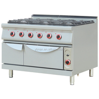 Restaurant industrial gas stove with oven,stainless industrial gas stove with oven