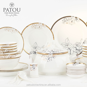 Gold lines dinner set bone china dinnerware set fine porcelain tableware  sc 1 st  Alibaba : porcelain china dinnerware - pezcame.com