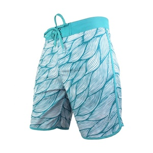 Sublimation Printed Beach Pants Swim Trunks Custom Mens Modest Board Shorts