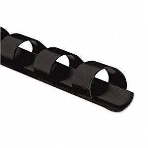 "Fellowes : Plastic Comb Bindings, 1/4"" 20-Sheet Capacity, Black, 25 per Pack -:- Sold as 2 Packs of - 25 - / - Total of 50 Each"