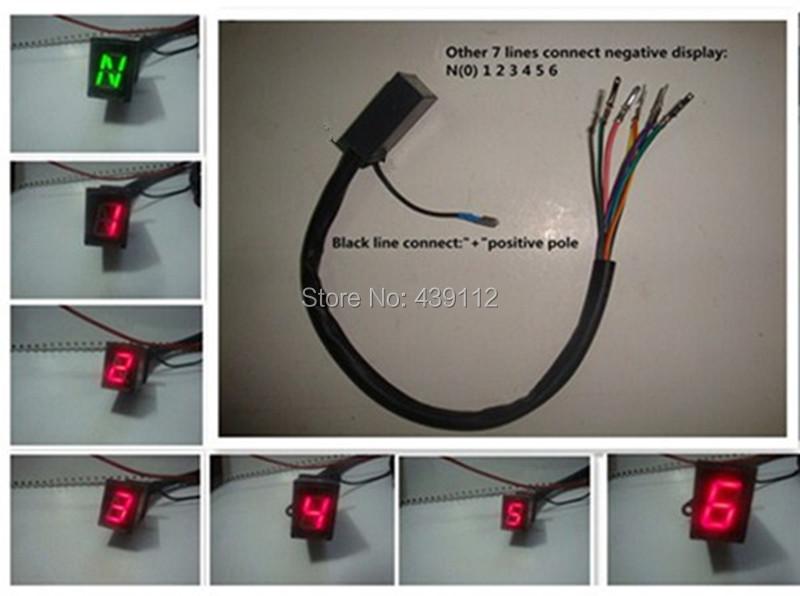 1 piece/lot Red Light LED Digital Gear Indicator - ขายส่ง