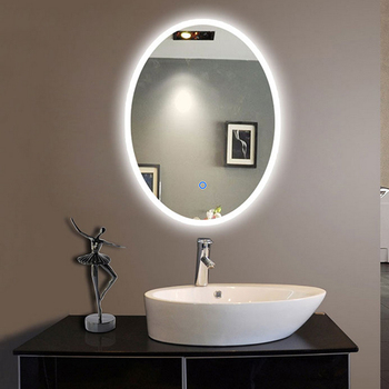 mode ovale h tel salle de bains miroir compact avec led lumi re buy product on. Black Bedroom Furniture Sets. Home Design Ideas