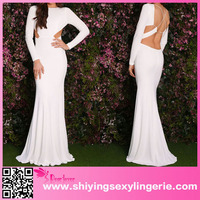 www sex image.com hot girls White Sexy Long Sleeves Party Prom Dress alibaba wedding dress
