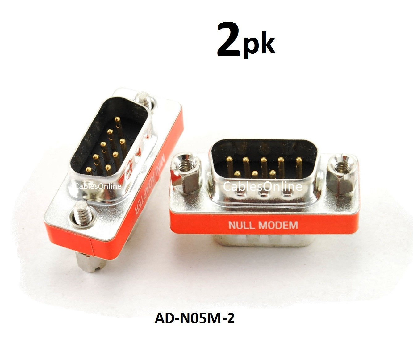 DB25 pin Male~Female Null Modem Nul//Cross Serial RS232 gender changer Adapter {F