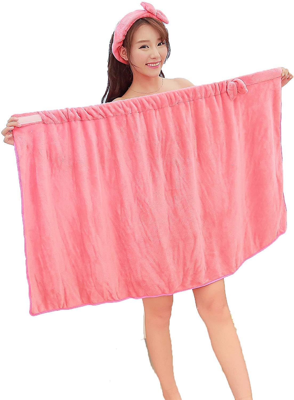 00fcd5399d Bowknot Women Bath Towel Bath Robe Bathrobe Body Spa Bath Bow Wrap Towel  Headband Set Super
