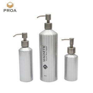 New product cosmetics packaging round shoulder aluminum shampoo bottle