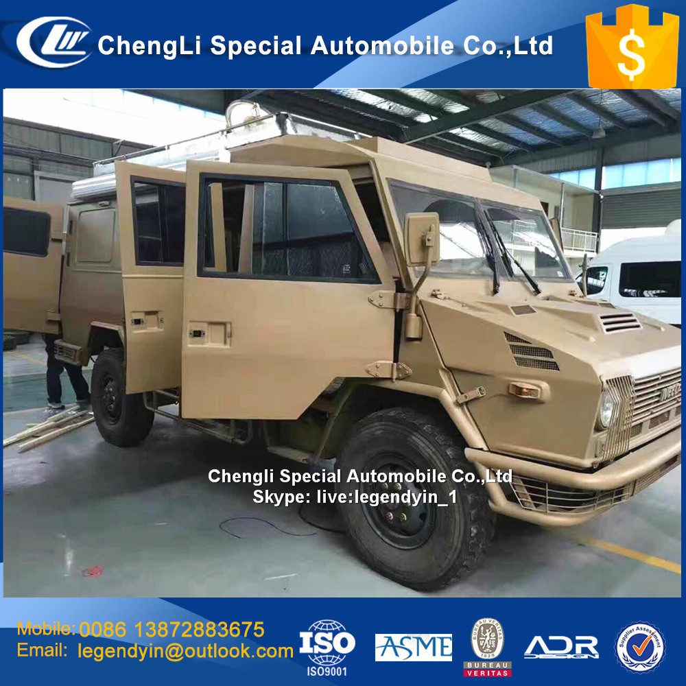 China 2017 new 4x4 all wheel drive off road RV caravan motorhome truck for sale