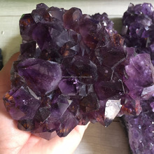 Wholesale Natural Grape Raw Purple Quartz Crystal Amethyst Geode Cluster