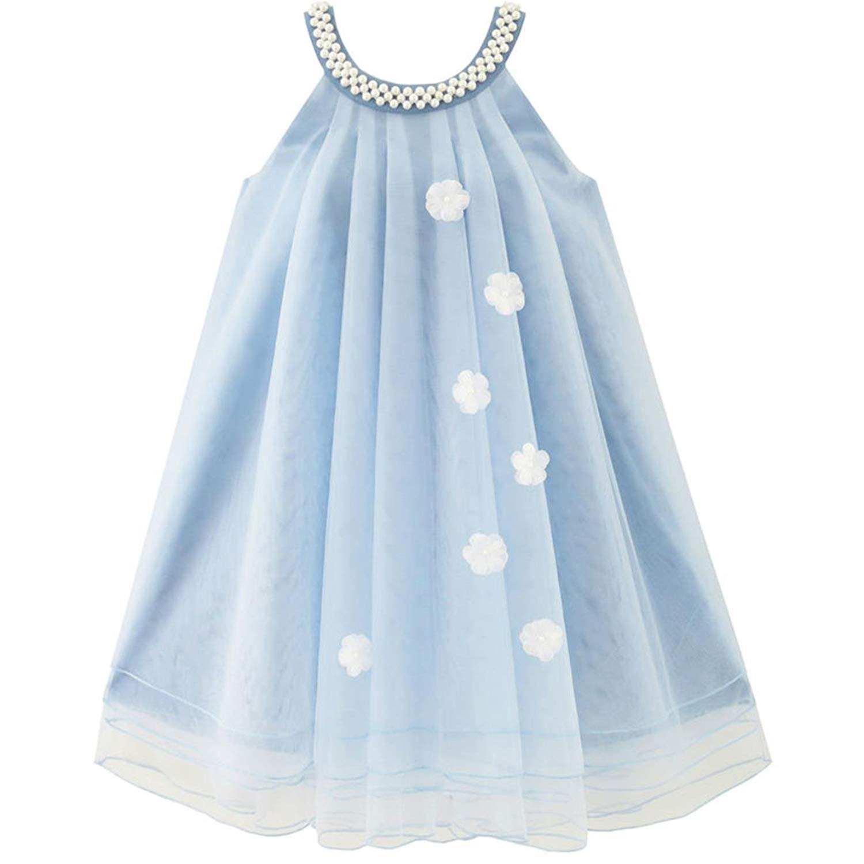 Buy Casual Dresses Girl Clothes Princess Dress Kids Wear Beach Honeyclothing Erfzjspg Girls Halter Pearl Party Wedding Birthday Summer