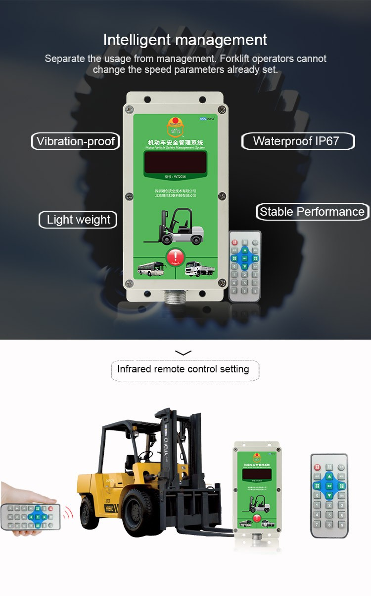 Rainproof Forklift Safety Speed Control Governor Voice Warning ...