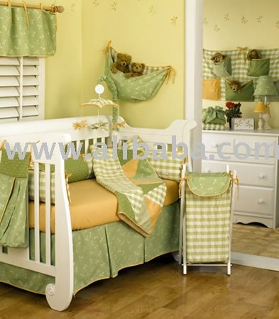 Bright Green Yellow Boutique Baby Bedding Crib Sets Nursery Decor Product On Alibaba