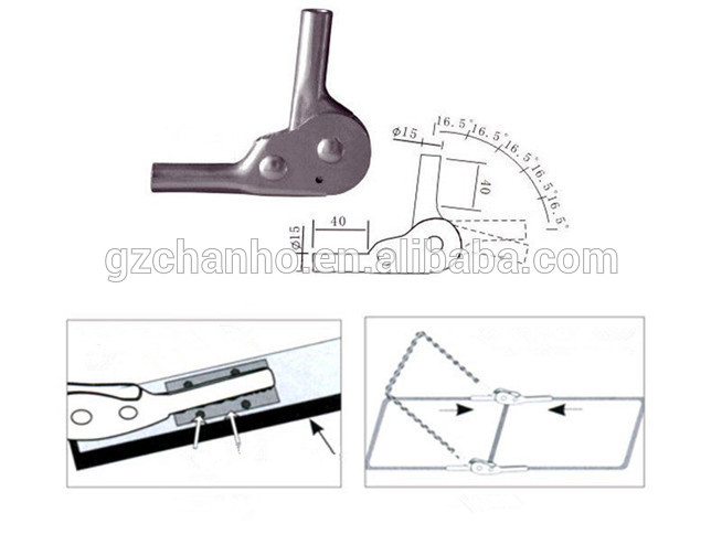 Furniture Hardware Accessory 90 Degree Round Pipe Hinge
