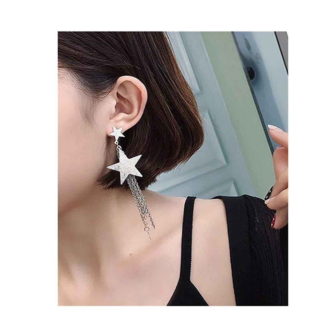 Women Tassels Earrings,ManxiVoo Shooting Star Long Tassels Drop Dangle Stud Earrings For Girls Eardrop Jewellery
