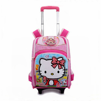 6c7a2eae7 Hello Kitty Kids School Bag With Trolley And Wheels - Buy Kids ...