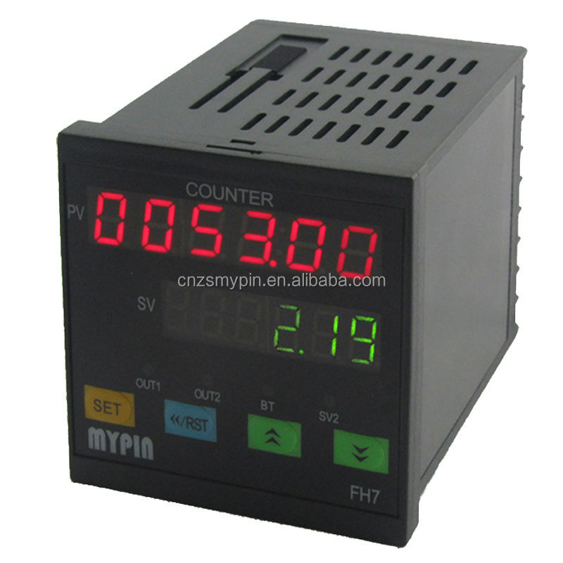FH7-6CFNB dual 6 digits digital LED counter meter with buzzer 90-260v AC-DC