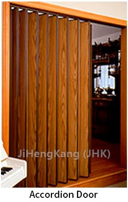 JHK  F01 Ukraine High Quality Oak /Avocado Wood Accordion Interior Doors