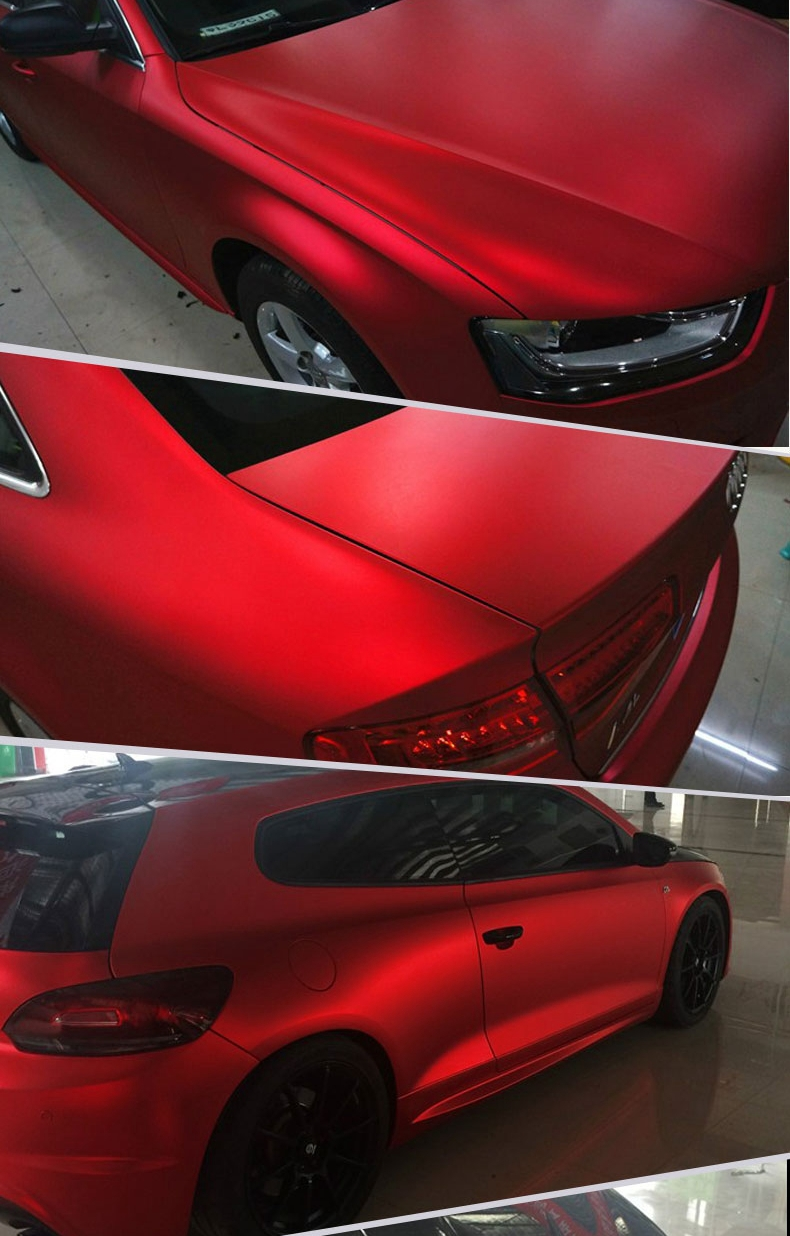 Car full body sticker design - New Colorful Shiny 1 52 20m Size Car Body Side Design Pvc Matte Chrome Vinyl