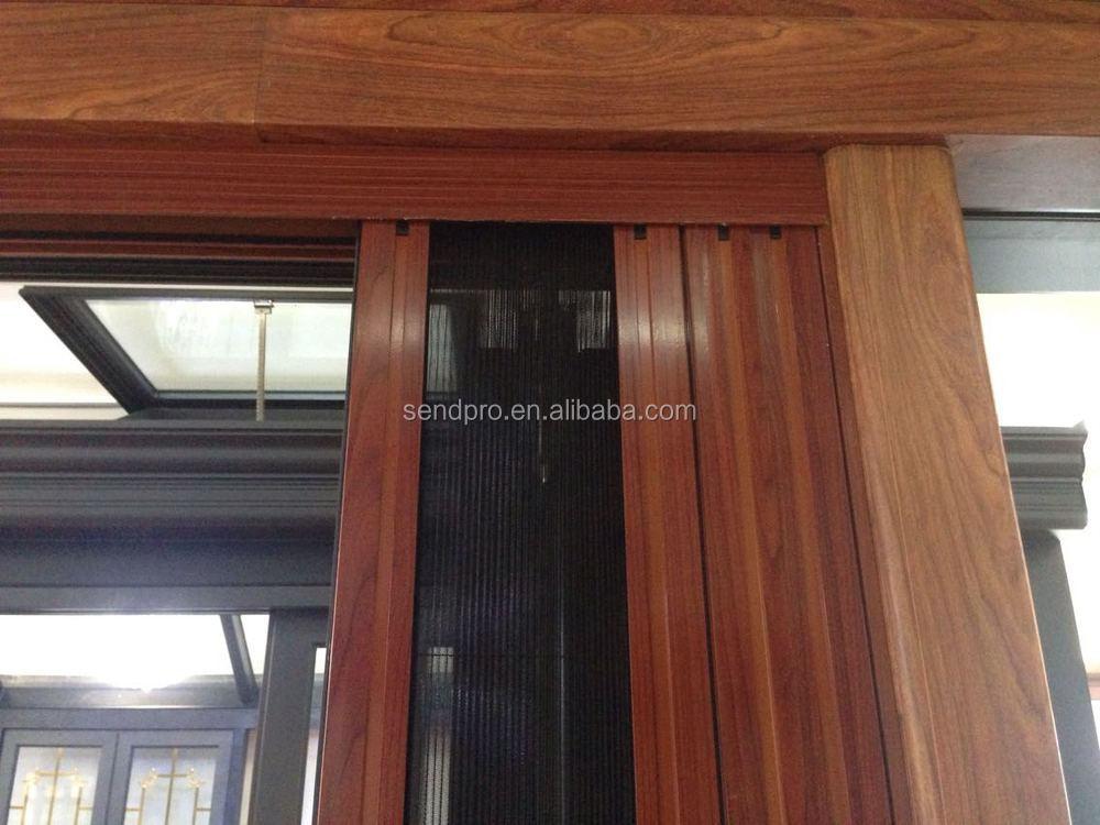 Hidden Mosquito Net Bifolding Door Australian Standard