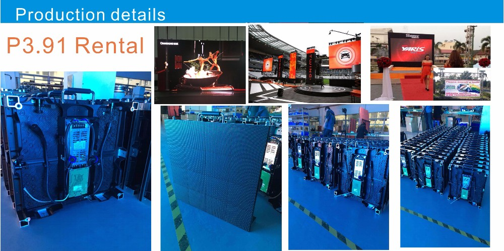 whole sales rental stage P3.91 indoor led display Front service module