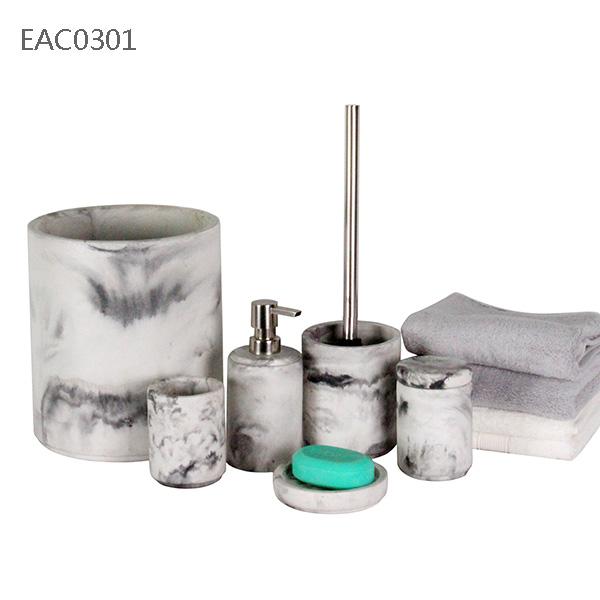 bath accessories wholesale marble bathroom set factory