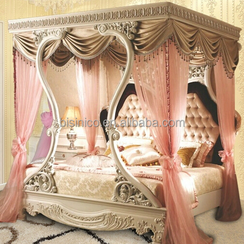 bisini luxury furniture italian luxury bedroom furniture classical hand carved wooden bed luxury - Hand Carved Bedroom Furniture