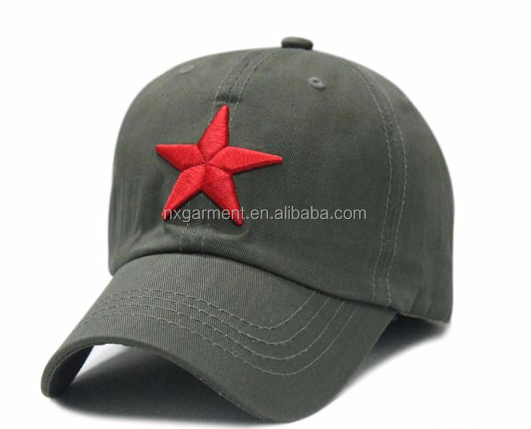 Cheap price new fashion Unisex Hot-selling Red Star Hat General Summer Army Hat Cadet Caps baseball hat
