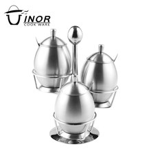 Sauce bowl cooking tools set stainless steel cruet with rack accept oem