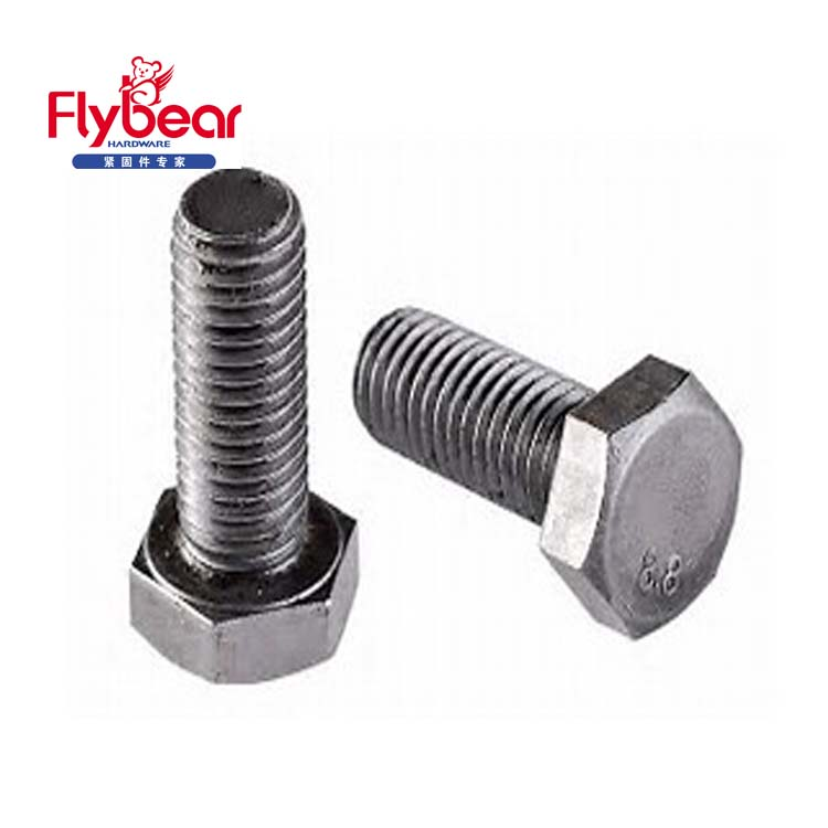 ISO4017 high precision top quality hexagon bolt Class 10.9/12.9 Dacromet gavalnized bolts DIN933 duplex 2507 hex head bolts