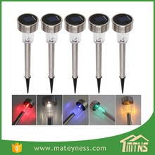 Outdoor Stainless Steel Led Solar Lawn Garden Landscape Solar Path Light