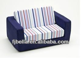 Blue Stripe Kids Flip Out Foam Sofa Seat Cushion