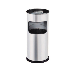 stainless steel round cigarette butt bins