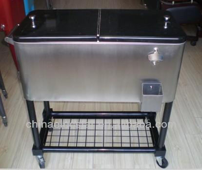Stainless Steel Patio Ice Cooler/beverage Cart,Suitable,Cooler Cart,Rolling  Cart,Outdoor Cooler Fridge   Buy Patio Cooler Cart,Cooler Cart,Rooling Cart  ...
