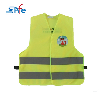 cheap factory price kids yellow reflective child safety vest