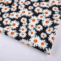 new products african daisy flower polyester fabric digital print