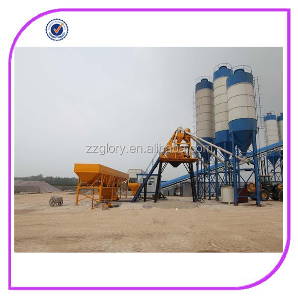 best selling product construction equipment HZS60 concrete mixing plant