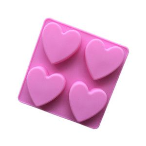 213 stock 4 cavity silicone cake mould jelly pudding silicone molds soap,DIY chocolate mold silicone mold,christmas heart shape