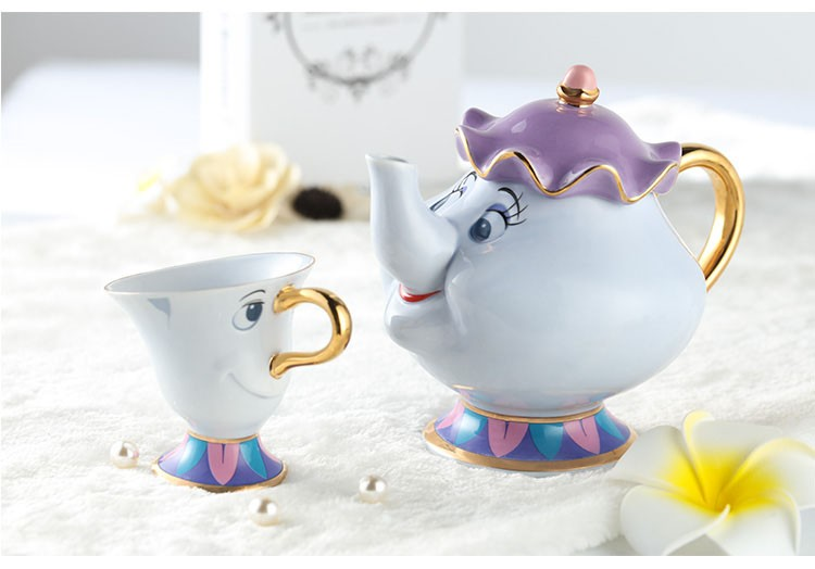 new beauty and the beast teapot cartoon mug mrs potts chip