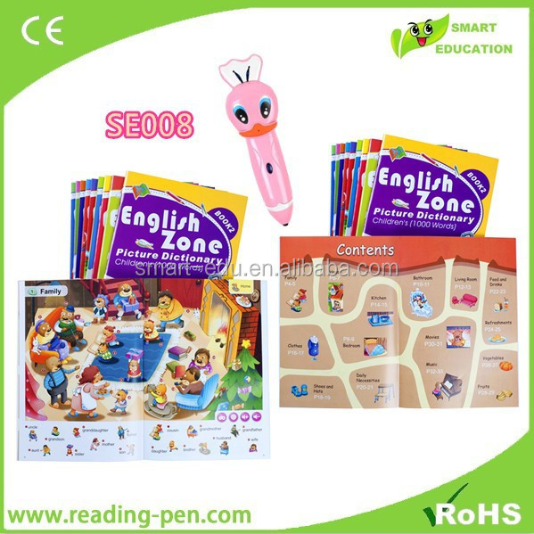 Make kids' study efficient English learning magic pen learn English and Spanish Russian