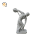classical greek discus thrower white marble roman sculpture MSZ-43