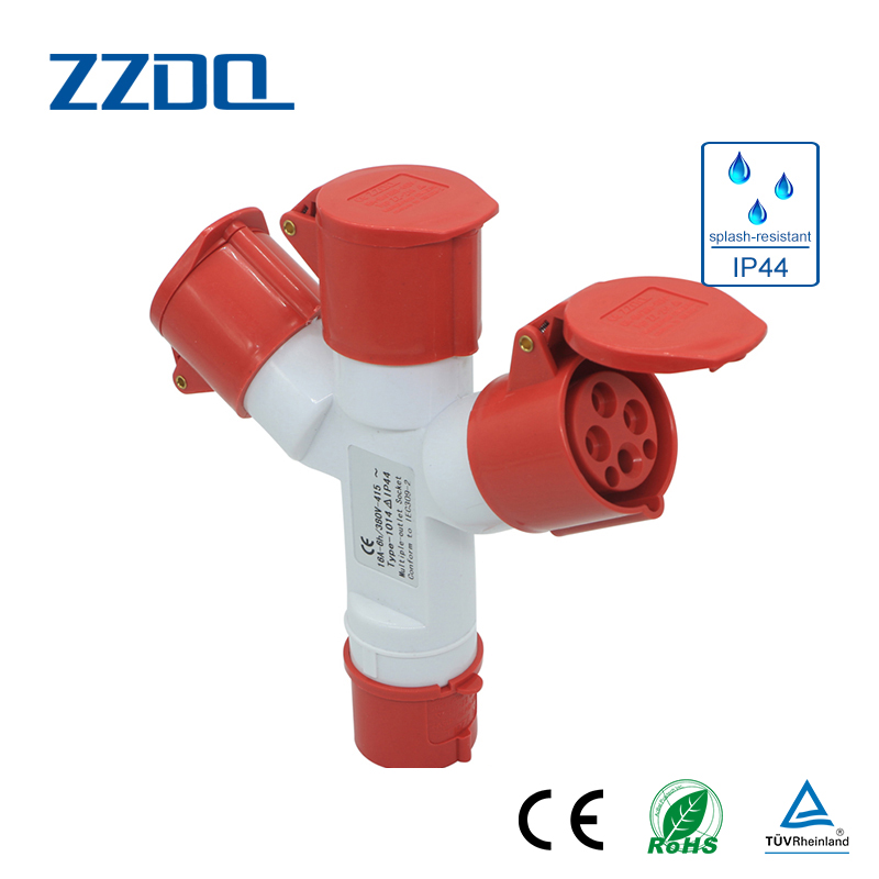 ZZDQ IP44 32A one point two Multi Function Industrial Plug and Socket