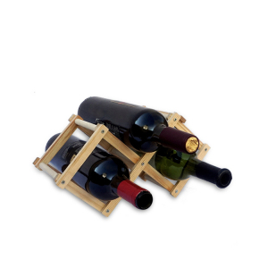 3 Bottles Wine Rack/Wooden Wine Bar Holder/Home from factory