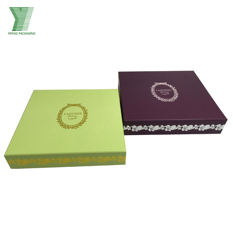 Hot sale macaroon/cookies/biscuit paper packaging gift box set design