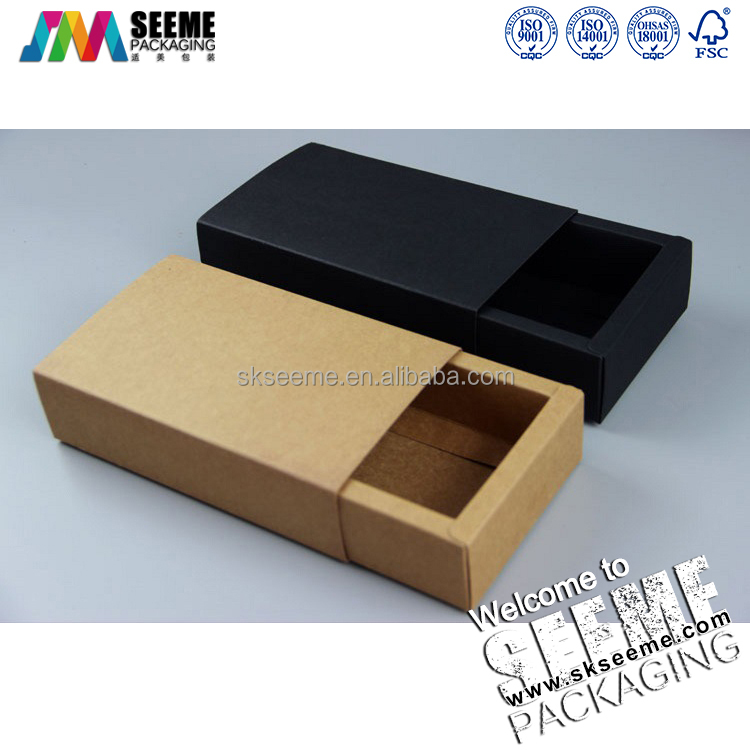 custom Recycle and Disposable Kraft Paper Drawer Boxes with logo