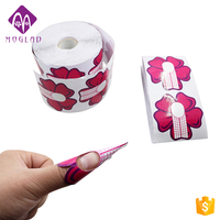 OEM&ODM Welcomed flower design Nail Art Form 500 Dual Nail System Form Paper