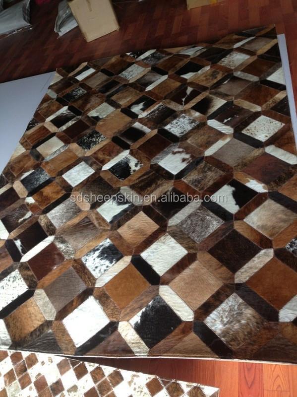 Patchwork piel de vaca alfombra alfombra piel de vaca - Alfombra piel cebra ...